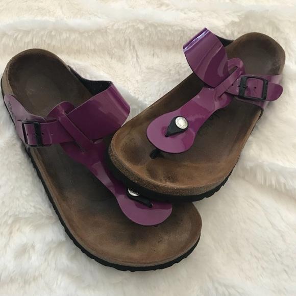 "c99aceb7d07b Birkenstock Shoes - Birkenstock Betula ""Rap"" Purple Thong Sandals"
